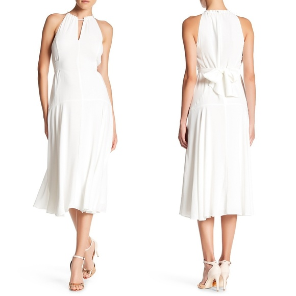 RACHEL Rachel Roy Dresses & Skirts - NWT Rachel Roy White Halter Grecian Midi Dress 315